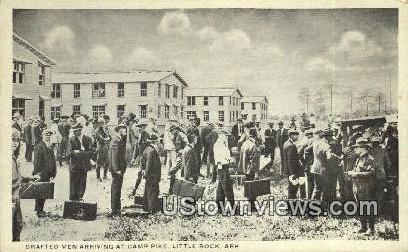 Drafted Men, Camp Pike - Little Rock, Arkansas AR Postcard