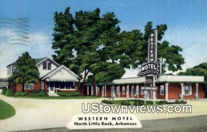 Western Motel - North Little Rock, Arkansas AR Postcard