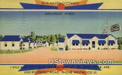 Blue Haven Cottages - Little Rock, Arkansas AR Postcard