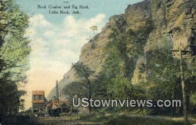 Rock Crusher & Big Rock - Little Rock, Arkansas AR Postcard