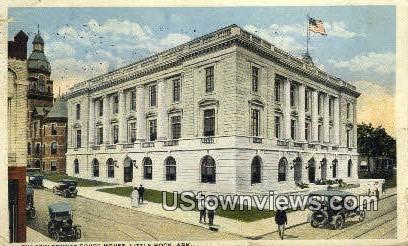Pulaski County Court House - Little Rock, Arkansas AR Postcard