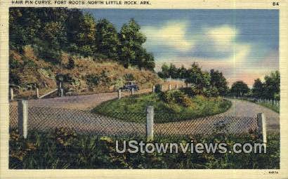 Hair Pin Curve, Fort Roots - North Little Rock, Arkansas AR Postcard