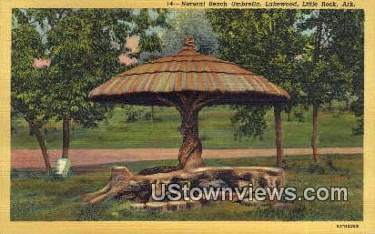 Natural Beach Umbrella, Lakewood - Little Rock, Arkansas AR Postcard