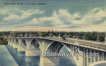 Main Street Bridge - Little Rock, Arkansas AR Postcard