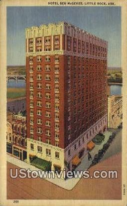 Hotel Ben McGhee - Little Rock, Arkansas AR Postcard