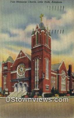 First Methodist Church - Little Rock, Arkansas AR Postcard