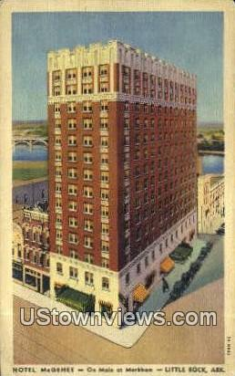 Hotel McGhee - Little Rock, Arkansas AR Postcard