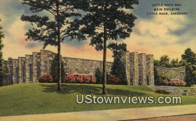 Little Rock Zoo Main Bldg - Arkansas AR Postcard