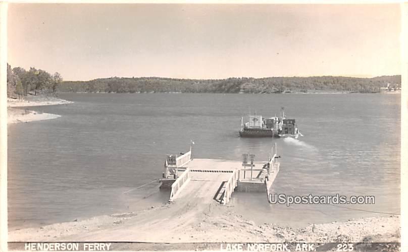 Henderson Ferry - Lake Norfolk, Arkansas AR Postcard
