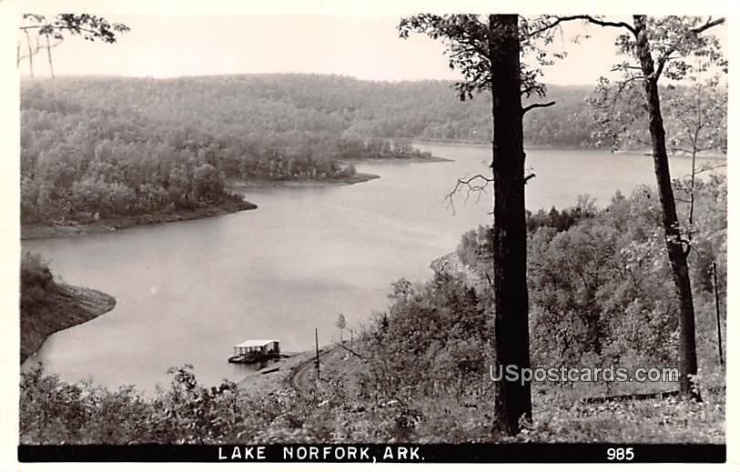 Birds Eye View - Lake Norfolk, Arkansas AR Postcard