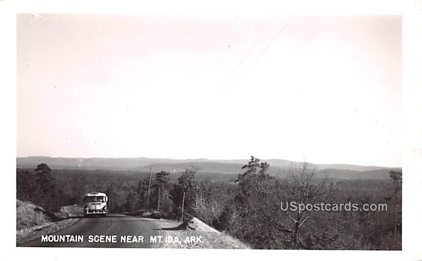 Mountain Scene - Mount Ida, Arkansas AR Postcard