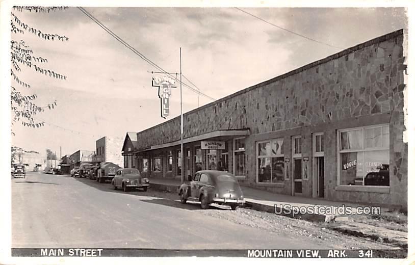 Main Street - Mountain View, Arkansas AR Postcard