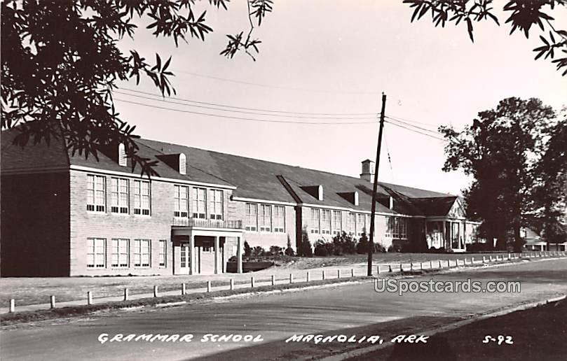 Grammar School - Magnolia, Arkansas AR Postcard