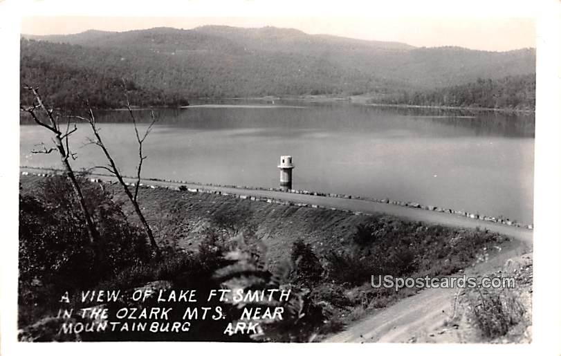 View of Lake Fort Smith - Mountainburg, Arkansas AR Postcard