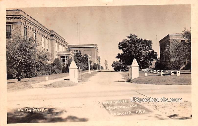 Main Drive - Magnolia, Arkansas AR Postcard
