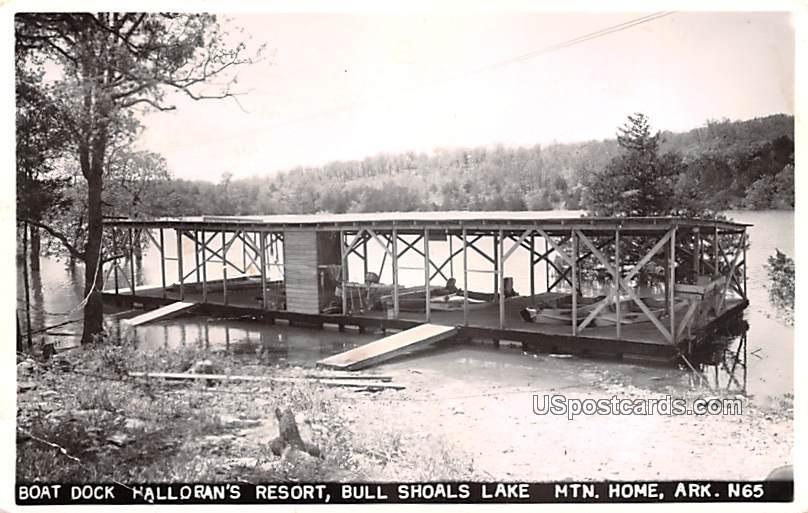 Boat Dock - Mountain Home, Arkansas AR Postcard