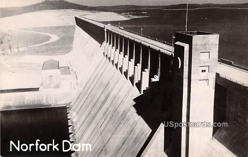 Norfork Dam - Arkansas AR Postcard