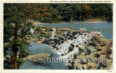 Dam - Devil's Den State Park, Arkansas AR Postcard