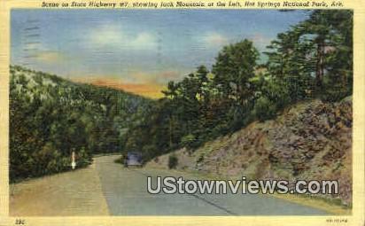 Jack Mountain - Hot Springs National Park, Arkansas AR Postcard