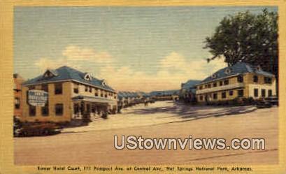 Romer Hotel Court - Hot Springs National Park, Arkansas AR Postcard