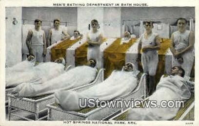 Men's Bathing Department, Bath House - Hot Springs National Park, Arkansas AR Postcard