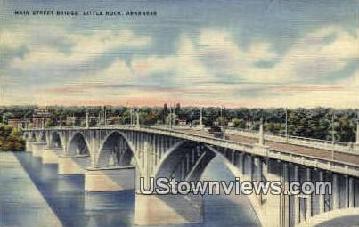 Main St. Bridge - Little Rock, Arkansas AR Postcard