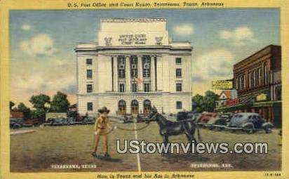 U.S. Post Office & Court House - Texarkana, Arkansas AR Postcard