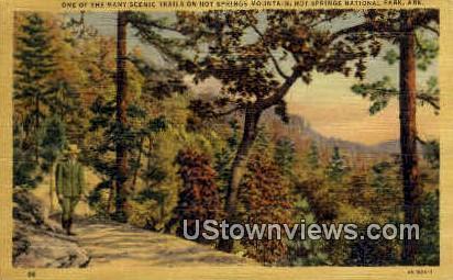 Trail, Hot Springs Mountain - Hot Springs National Park, Arkansas AR Postcard