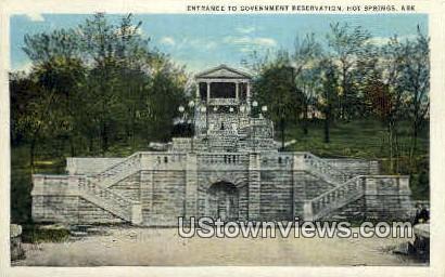 Entrance, Government Reservation - Hot Springs, Arkansas AR Postcard