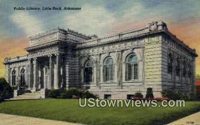 Public Library - Little Rock, Arkansas AR Postcard
