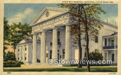 State War Memorial Building - Little Rock, Arkansas AR Postcard