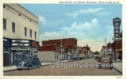 Main St. Bridge - Van Buren, Arkansas AR Postcard
