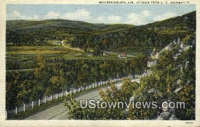 Mountainburg, AK,   ;   Mountainburg, Arkansas Postcard