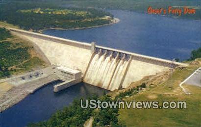 Greer's Ferry Dam - Heber Springs, Arkansas AR Postcard