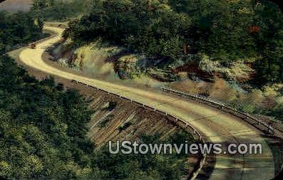 S Curve - Highway US 71, Arkansas AR Postcard