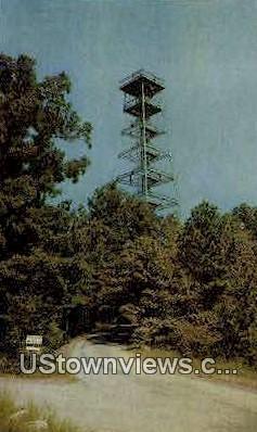 Steel Observation Tower - Hot Springs National Park, Arkansas AR Postcard