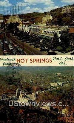 Greetings From - Hot Springs National Park, Arkansas AR Postcard