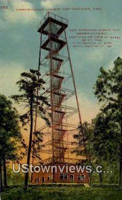 Observation Tower - Hot Springs, Arkansas AR Postcard
