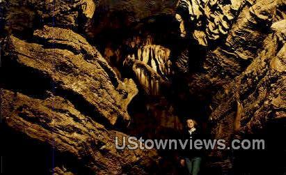 Bridal Veil, Old Spanish Treasure Cave - Gravette, Arkansas AR Postcard