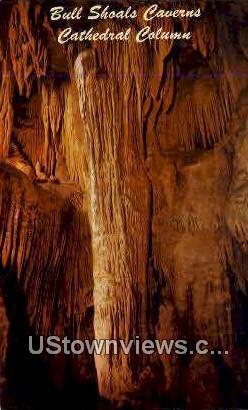 Cathedral Column, Bull Shoals Caverns - Arkansas AR Postcard