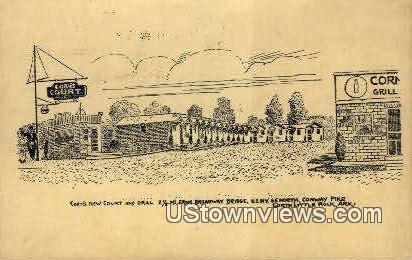 Corn's Court & Grill - Little Rock, Arkansas AR Postcard