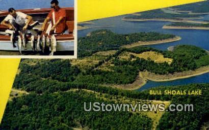 Bull Shoals Lake, Arkansas,     ;     Bull Shoals Lake, AR Postcard