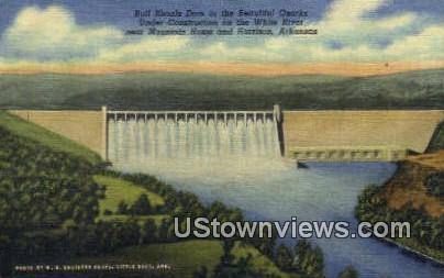 Bull Shoals Dam - Harrison, Arkansas AR Postcard