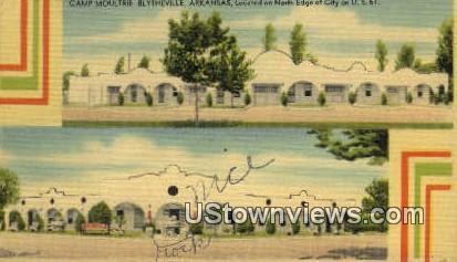 Camp Moultrie - Blytheville, Arkansas AR Postcard