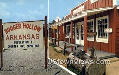 Booger Hollow, Ark,     ;     Booger Hollow, Arkansas Postcard