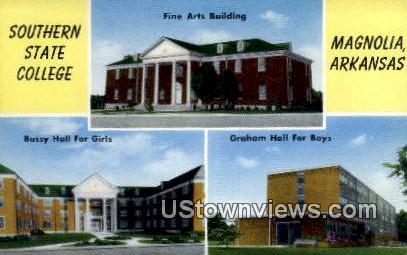 Southern State College - Magnolia, Arkansas AR Postcard