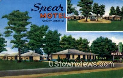 Spear Motel - Conway, Arkansas AR Postcard