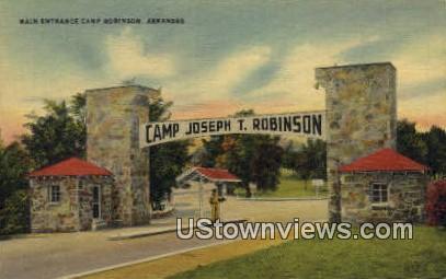 Camp Robinson, Ark,     ;     Camp Robinson, Arkansas Postcard