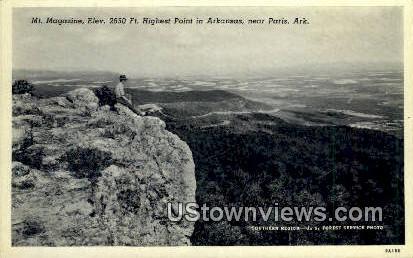 Mt Magazine - Paris, Arkansas AR Postcard
