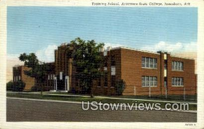 Training School, Arkansas State College - Jonesboro Postcard